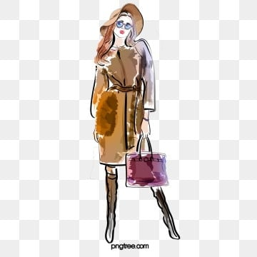 fashion design fashion girl shopping hand drawn elements, Sunglasses, High Heels, Clothes PNG and PSD