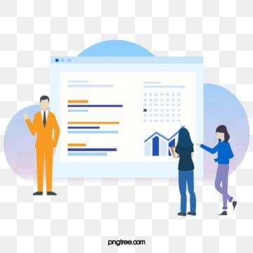 온라인 협력 ui 비즈니스 차트 그림, 도표, 선상, 협동 PNG 및 PSD
