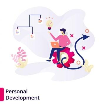 App Development Illustration Concept A Man Designed A