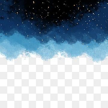 цветущее звездное небо кисти, Звездное небо, Звезды, цветение PNG и PSD