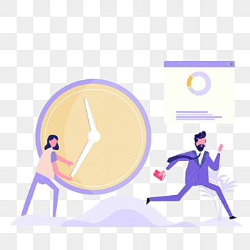 cartoon hand drawn purple office run illustration, Run, Cooperation, Business Affairs PNG and PSD