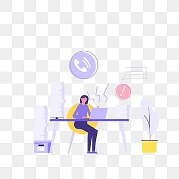 cartoon line office purple ui illustration, Violet, Computer, Office PNG and PSD