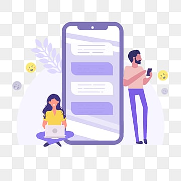 cartoon purple ui mobile phone online office illustration, Office, Online, Mobile Phone PNG and PSD