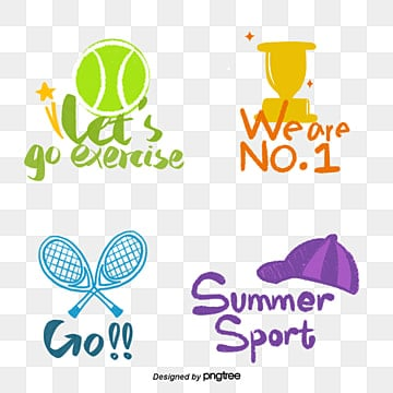 color cartoon sport style camera sticker font Fonts