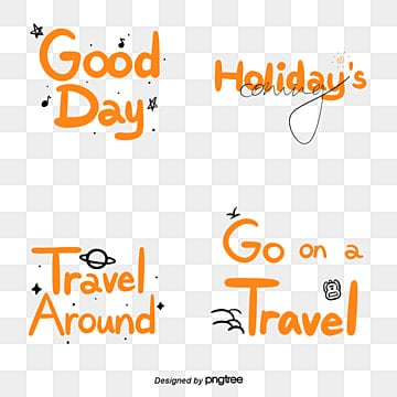 orange cartoon holiday hand drawn camera sticker font Fonts