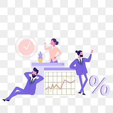purple ui office cooperation illustration, Cooperation, Business Affairs, Suit PNG and PSD