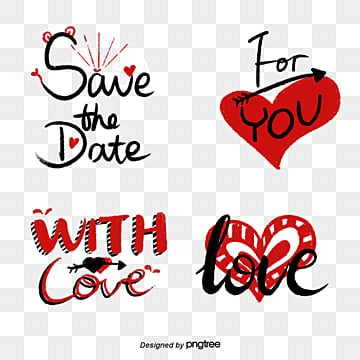 red cartoon hand drawn romantic camera sticker Fonts
