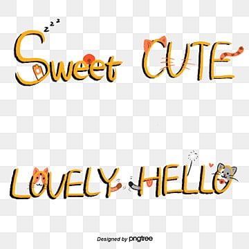 yellow cartoon cat camera sticker font Fonts