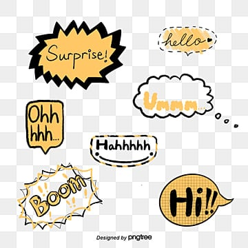 yellow cartoon everyday language camera sticker font Fonts