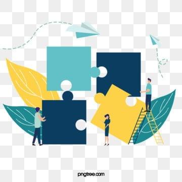 비즈니스 협력 퍼즐 해독 그림, 해독, 병도, 푸른색 PNG 및 PSD