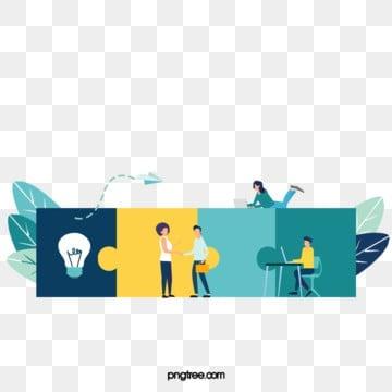 비즈니스 암호 해독 협력 퍼즐 그림, 해독, 병도, 푸른색 PNG 및 PSD