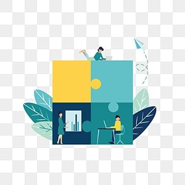 만화 비즈니스 암호 해독 잎 퍼즐 그림, 해독, 병도, 푸른색 PNG 및 PSD