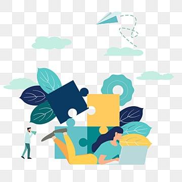 만화 손으로 그린 퍼즐 해독 그림, 해독, 병도, 푸른색 PNG 및 PSD