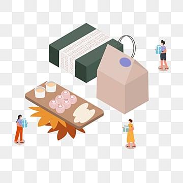 한국 가을 이브 음식 선물 상자 그림, 만화, 손잡다, 선물 상자 PNG 및 PSD