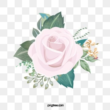 pink hand drawn floral flowers leaves plant elements, Flowers, Flower, Flowers And Plants PNG and PSD