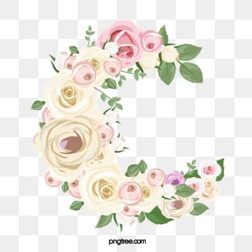 white light pink floral wreath flowers plant leaves elements, Flowers, Flowers And Plants, Garland PNG and PSD