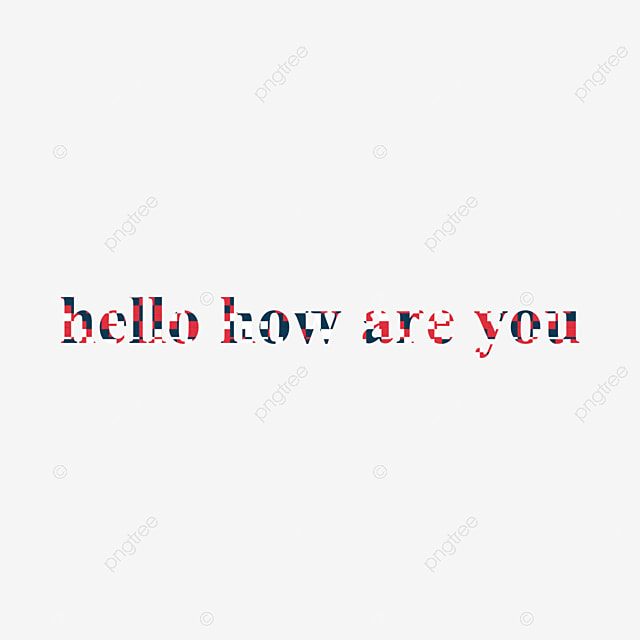 Red Hello How Are You Text Effect Plaid Texture Font Art Font For ...