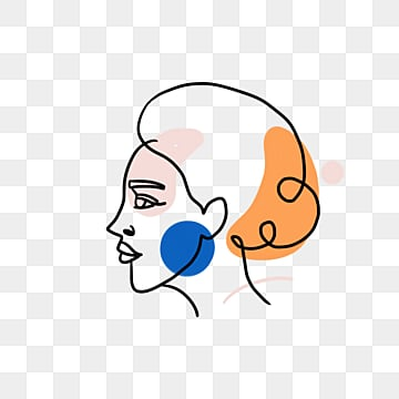 creative line color block decoration woman avatar, Brief Strokes, Cartoon, Decoration PNG and PSD