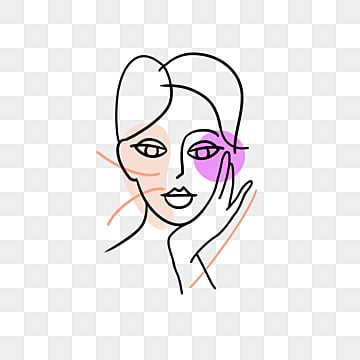hand drawn line beauty avatar, Brief Strokes, Cartoon, Decoration PNG and PSD