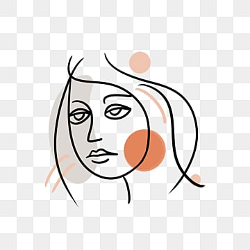 line color block girl avatar, Brief Strokes, Cartoon, Decoration PNG and PSD