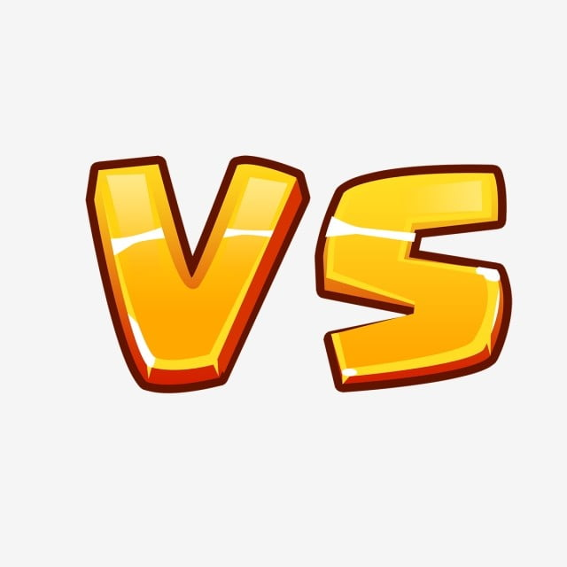 Versus Vs Letters Fight Text With Comic Fighting Cartoon Style For ...