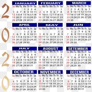 Calendario Del Ano 2020 En Espanol.Calendario 2019 Espanol Png Vectores Psd E Clipart Para