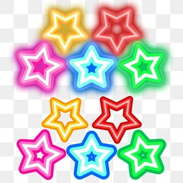 pngtree star neon colorful stars png image 1701392