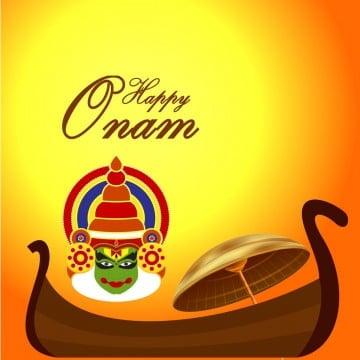 खुश ओणम रचनात्मक नाव, खुश ओणम, केरल, कथकली पीएनजी और पीएसडी