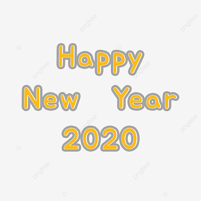 Happy New Year Font 89