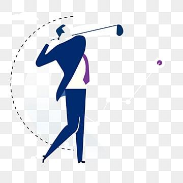 비즈니스 남자 골프 도전 데이터 추진 그림, 상무., 도전하다, Data PNG 및 PSD