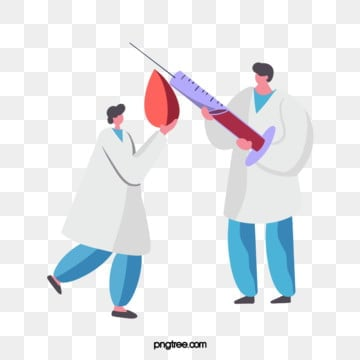 cartoon doctor needle blood drop medical illustration, Medical Care, Doctors, Treatment PNG and PSD