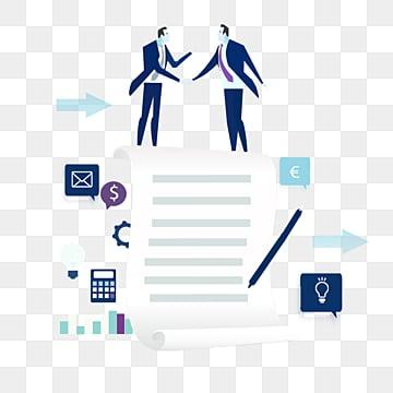만화 손으로 그린 데이터 추진 사업 협력 그림, 상무., Data, 프로모션 PNG 및 PSD