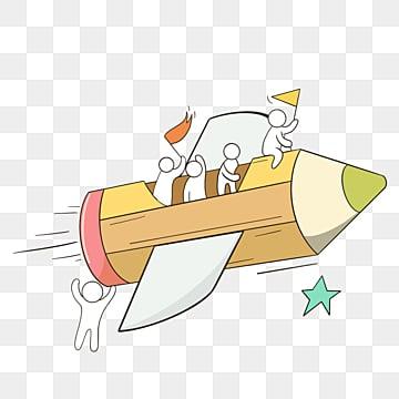 만화 손으로 그린 로켓 팀워크 그림, 팀, 협업, 만화 PNG 및 PSD