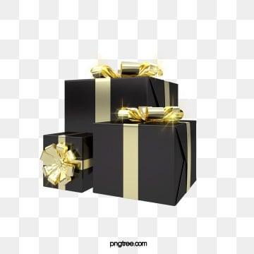 3d 블랙 골드 크리스마스 크리 에이 티브 선물 상자, 성전, 선물케이스, 선물 PNG 및 PSD