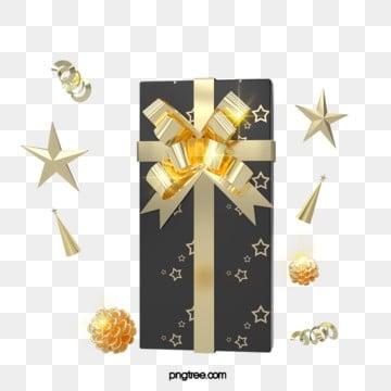 3d 블랙 골드 에나멜 휴일 크리스마스 선물 상자, 명절, 파티, 미친 듯이 기뻐하다 PNG 및 PSD