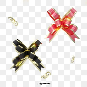 3d 블랙 골드 핑크 크리스마스 황금 리본, 축전, 축하하다, 질감 PNG 및 PSD