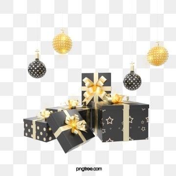 3d 블랙 골드 질감 창조적 인 크리스마스 선물 상자, 금빛, Stereoscopic, 로즈 골드 PNG 및 PSD