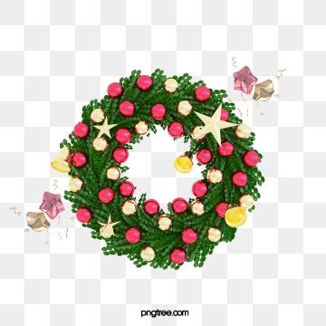3d 크리스마스 휴일 화환, 명절, 축하하다, 3 D. PNG 및 PSD