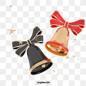 3d 크리스마스 입체 황금 璀璨 종, Christmas, 명절, 3 D. PNG 및 PSD