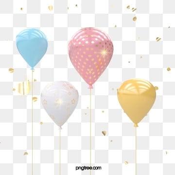 3d 축제 핑크 부드러운 축하 풍선, 금빛, 질감, Balloon PNG 및 PSD