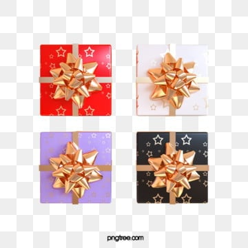 3d 휴일 축하 선물 상자, 축전, 축하하다, 질감 PNG 및 PSD