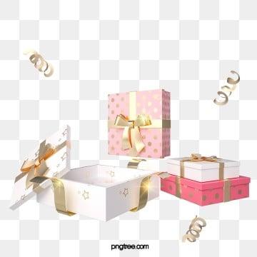 3d 핑크 캔디 컬러 선물 상자, 명절, 선물을 보내다, 파티 PNG 및 PSD