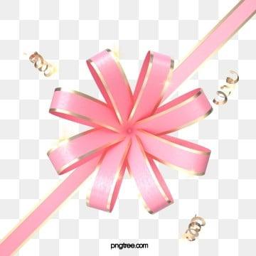 3d 핑크 입체 나비 넥타이 꽃, 명절, 활, 축하하다 PNG 및 PSD