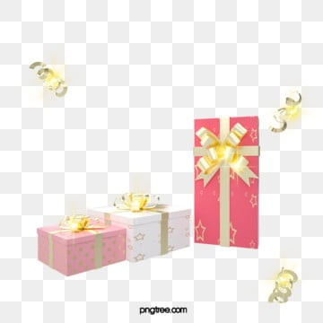 3d 텍스처 핑크 크리스마스 휴일 선물 상자, 금빛, 질감, 금을 박다 PNG 및 PSD