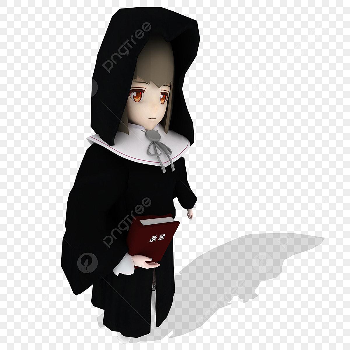 C4d Personaje C4d Monja Monja C4d Mujer Mujer Vestido De