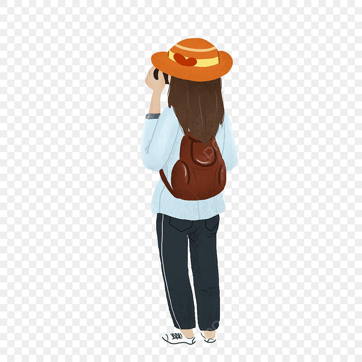 Alone Cartoon Girl cartoon girl traveling alone, cartoon, cute, character png
