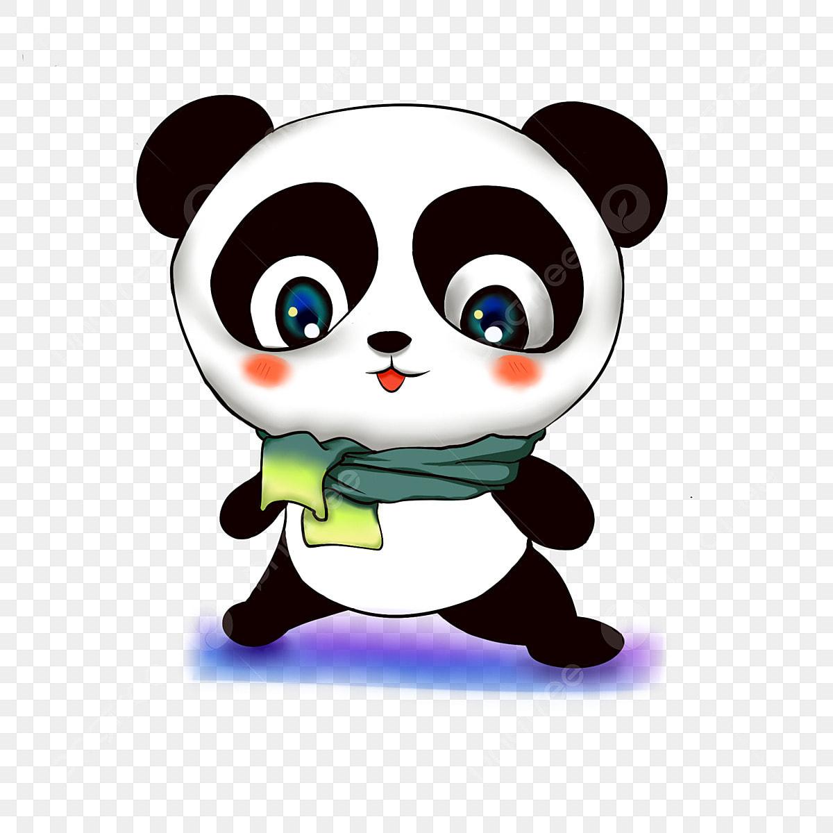 Kartun Imej Haiwan Panda Comel Kecil Comel Imej Haiwan