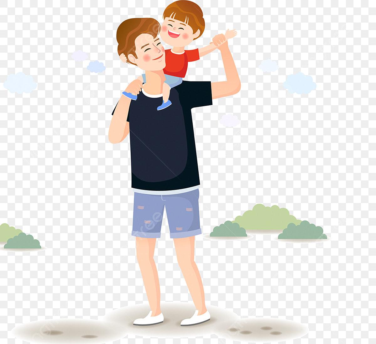 طفل لطيف الأب عنصر زخرفي عنصر زخرفي مرسومة باليد طفل Png وملف Psd للتحميل مجانا