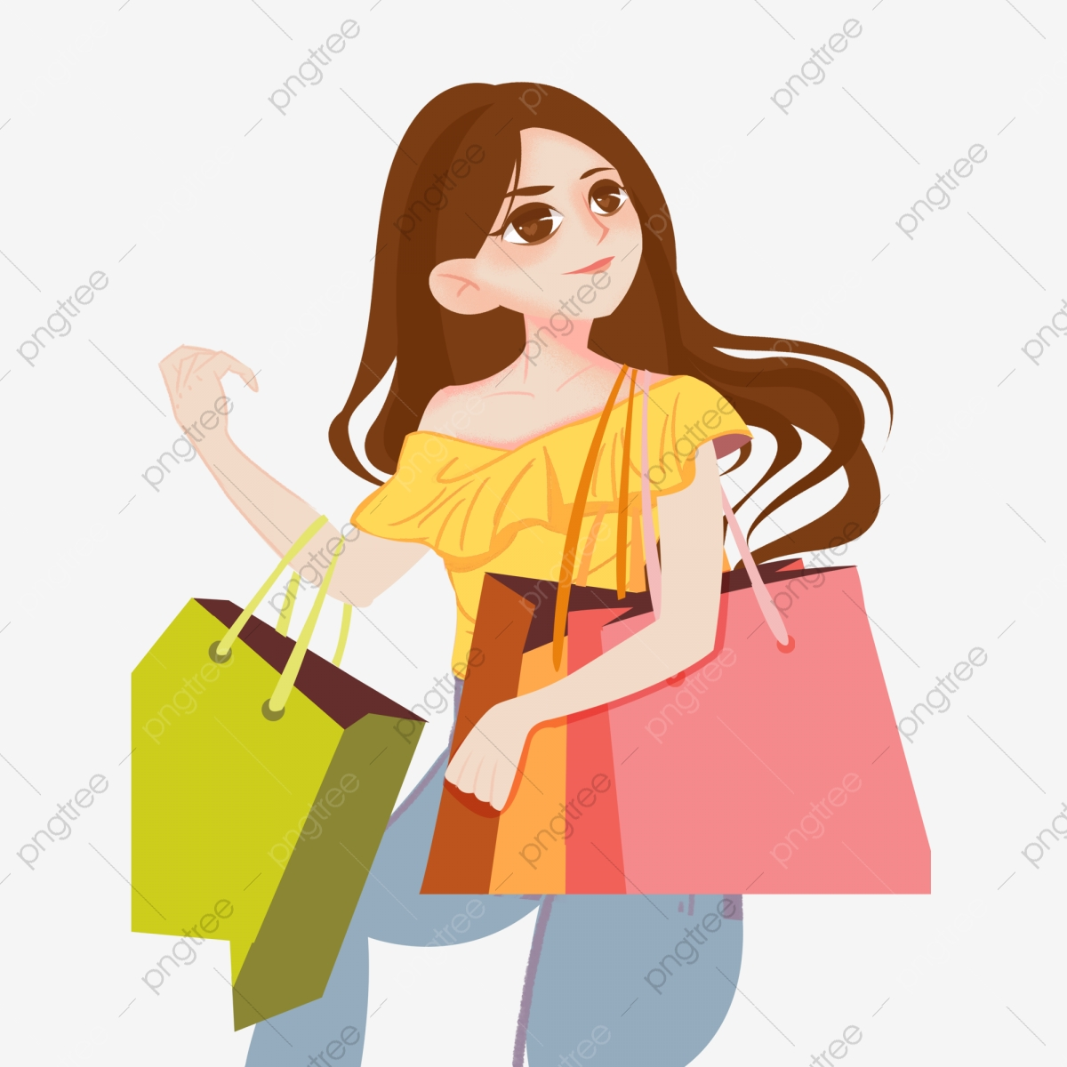 Fashion Girls Vector PSD And Clipart With Transparent