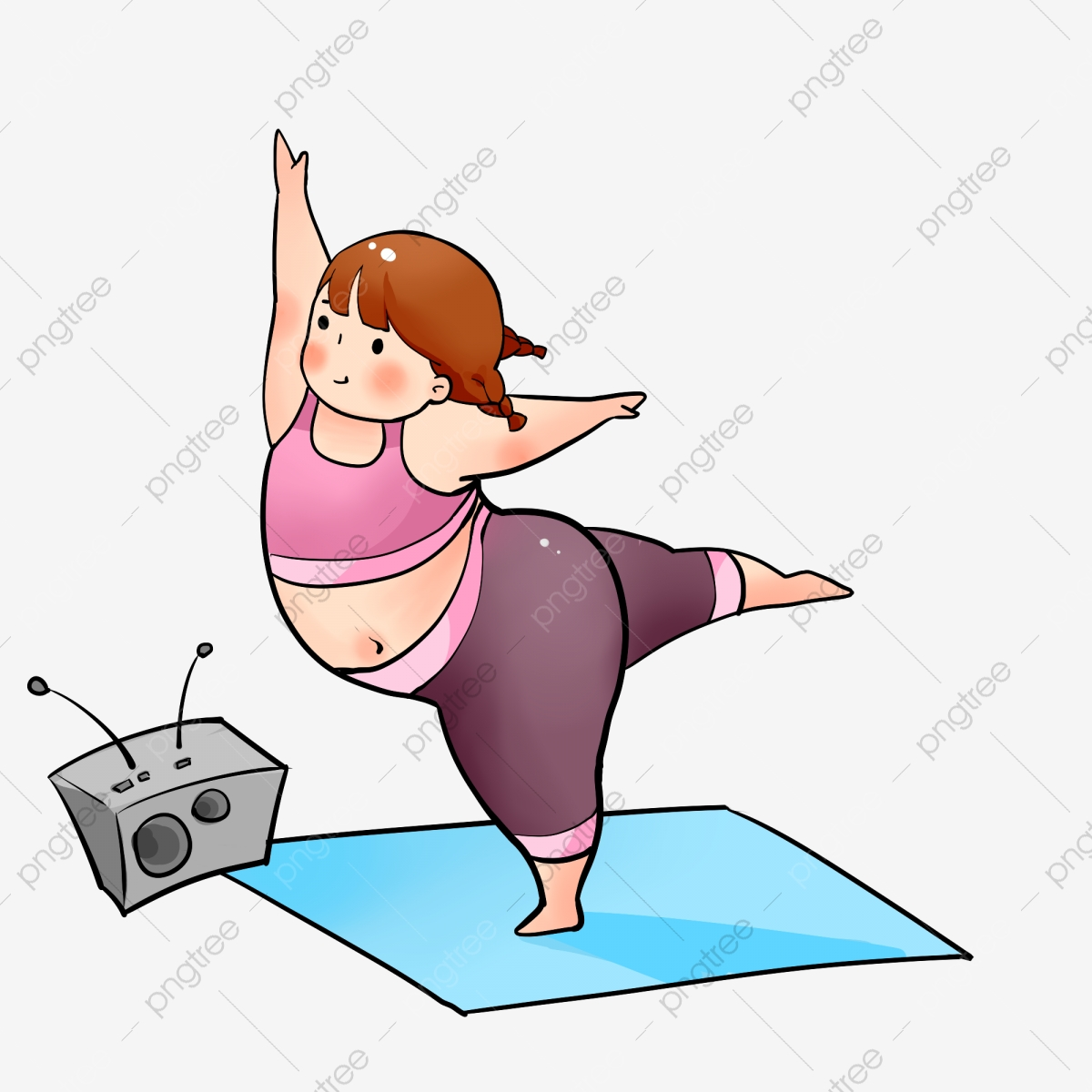 Yoga Cartoon Png Images Vector And Psd Files Free Download On Pngtree